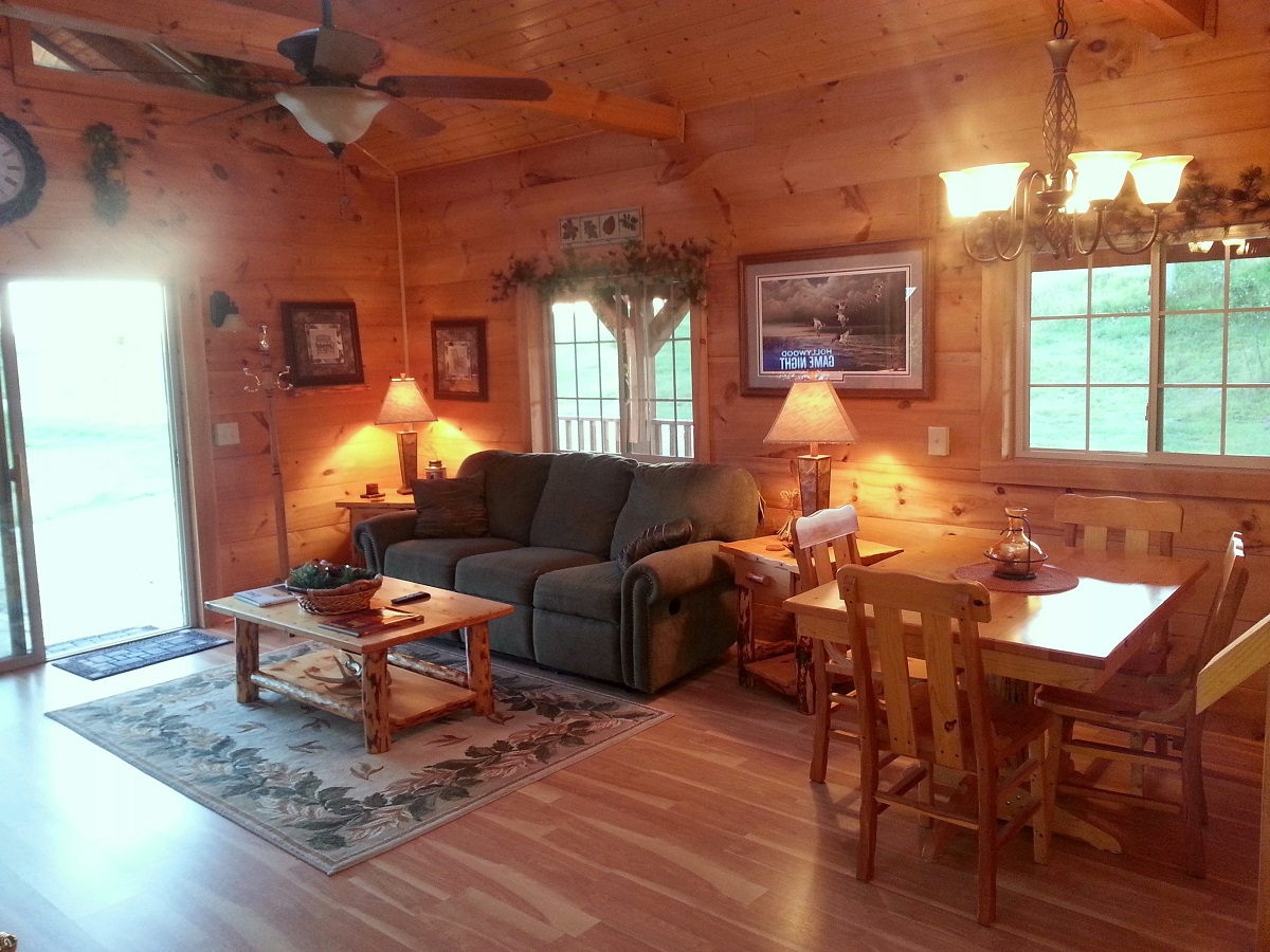 cabins angle iowa to front for best rent in burr rentals cabin log oak