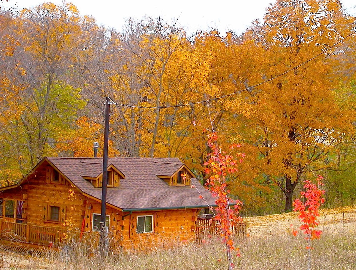 rentals rent cabins cabin iowa creek lodge in watch with paint to youtube