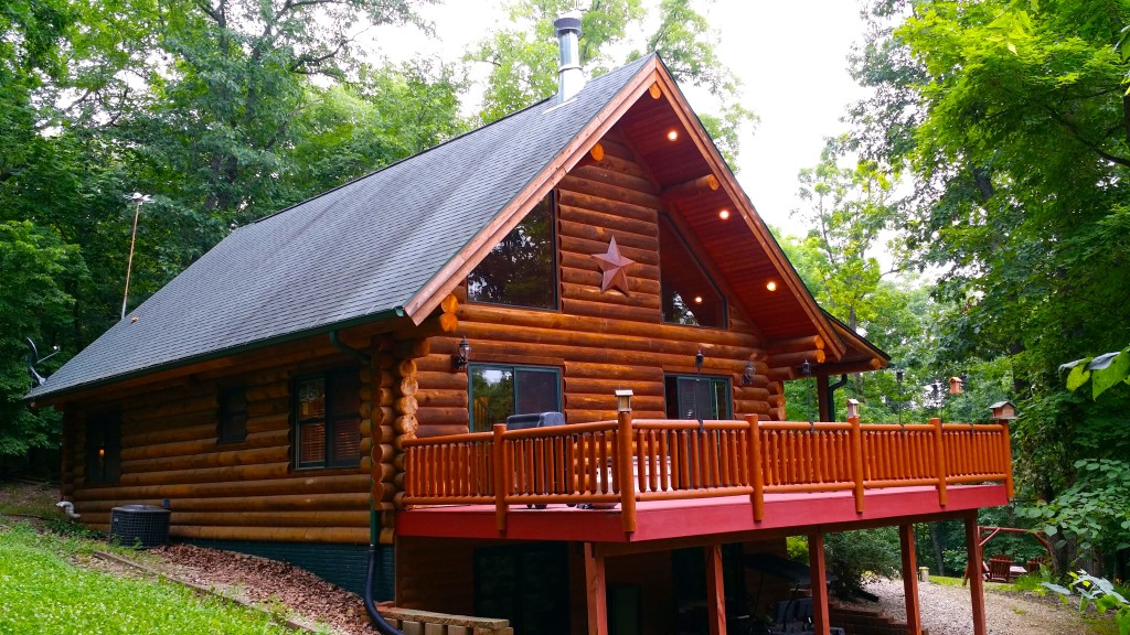 Paint creek lodge 5 bedroom log cabin with hot tub jacuzzi for 5 bedroom log homes