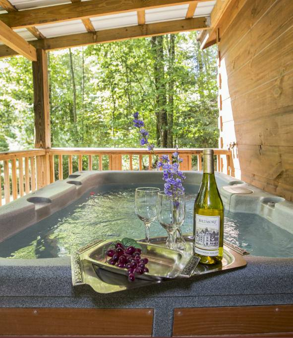 Paint Creek Lodge 5 Bedroom Log Cabin With Hot Tub Jacuzzi